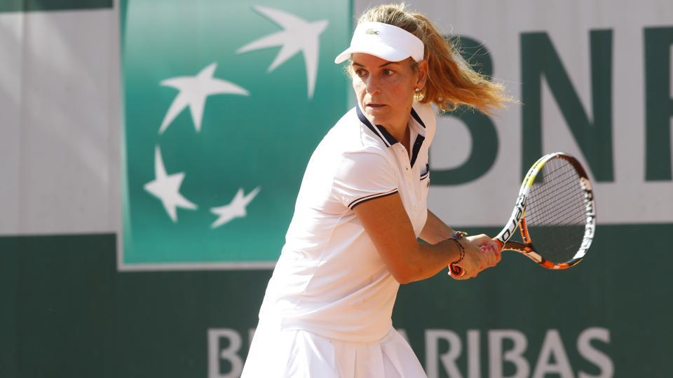 Former Spanish tennis queen Arantxa Sanchez Vicario is on a tour of India. She has won the French Open thrice