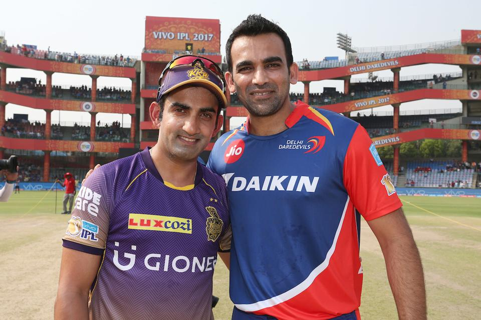 Delhi Daredevils captain Zaheer Khan (R) won the toss and elected to bat first. (BCCI)