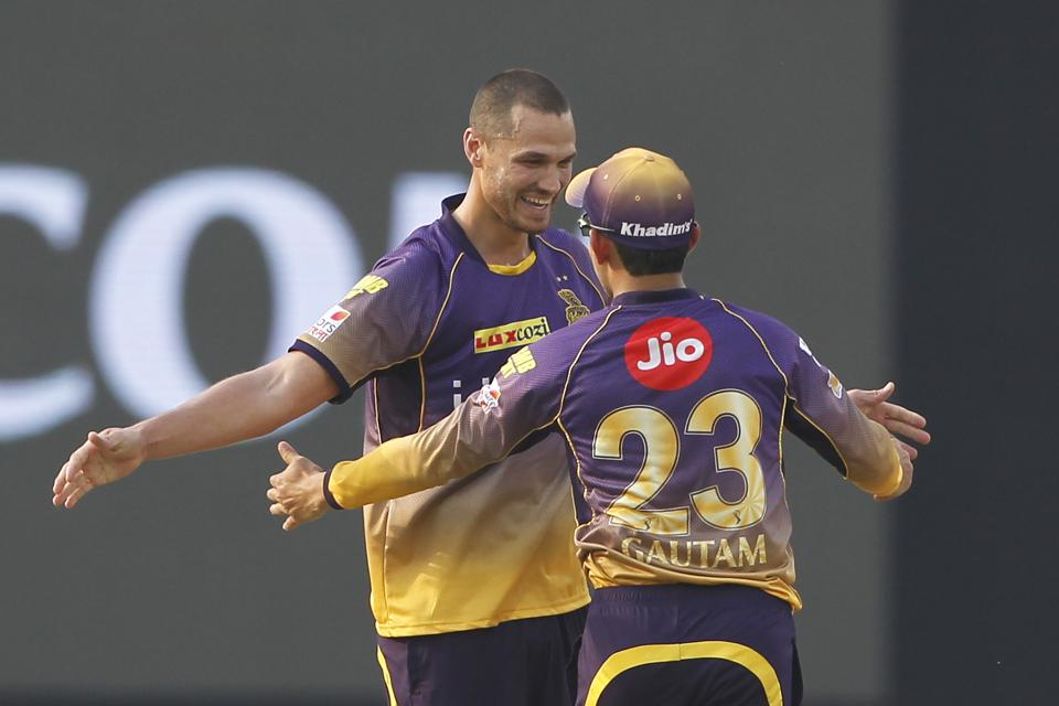 Nathan Coulter-Nile was the pick of the KKR bowlers. He conceded just 22 runs from his four overs, while picking three wickets. (BCCI)