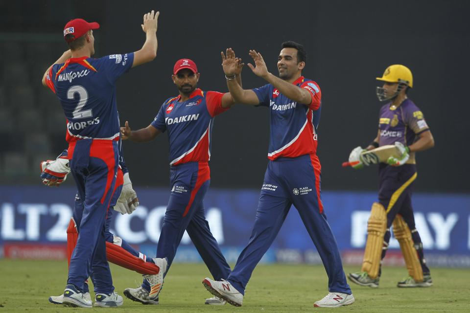 Zaheer Khan was in fine fettle with the ball for DD, finsing with figures of 2/28. (BCCI)