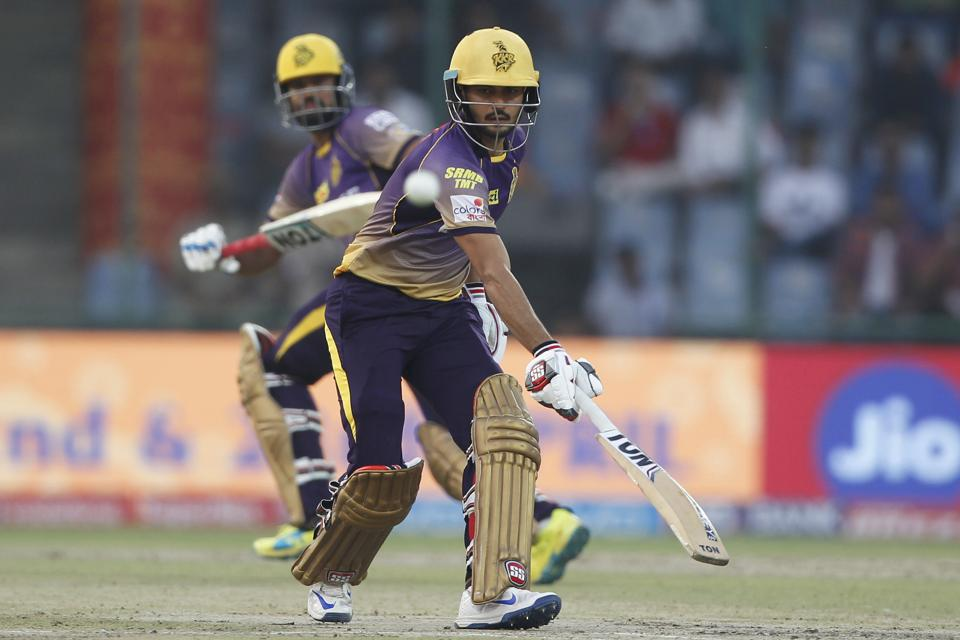 After losing three quick wickets, Manish Pandey (R) and Yusuf Pathan steadied the innings for KKR. (BCCI)
