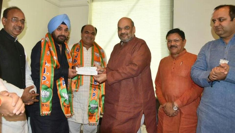 Former MLA Arvinder Singh 'Lovely' and Delhi Youth Congress president Amit Malik  joined the BJP on Tuesday.