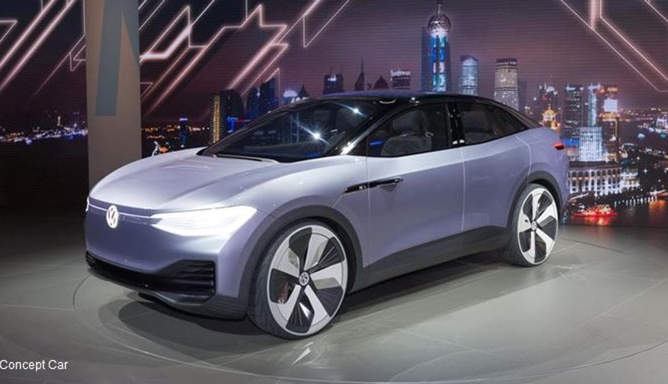 VW's concept electric crossover ID Crozz is based on the same platform as the ID hatchback and the ID Buzz microbus.