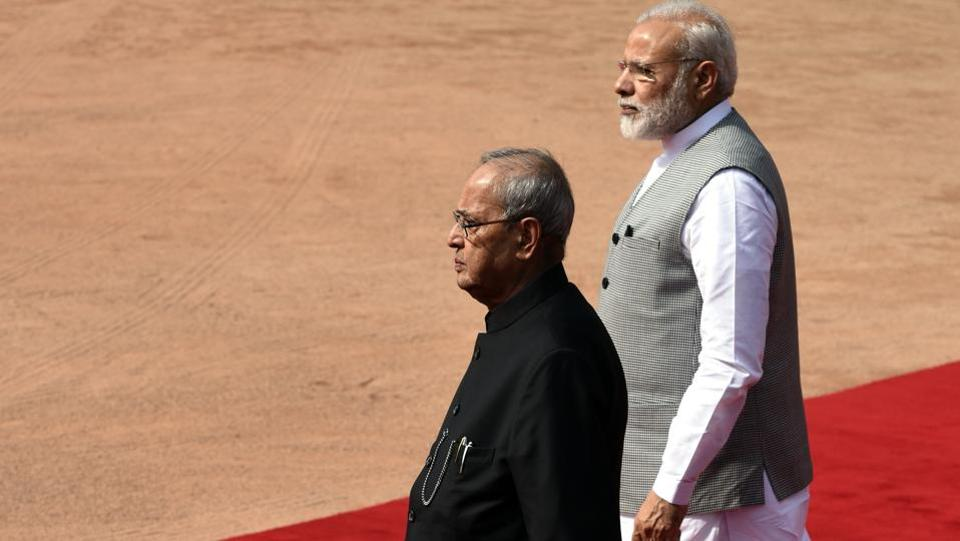 President Pranab Mukherjee will host a state banquet in honor of the visiting dignitary. This is Bhandari's first foreign tour after assuming office in October 2015.  (Sonu Mehta/HT PHOTO)