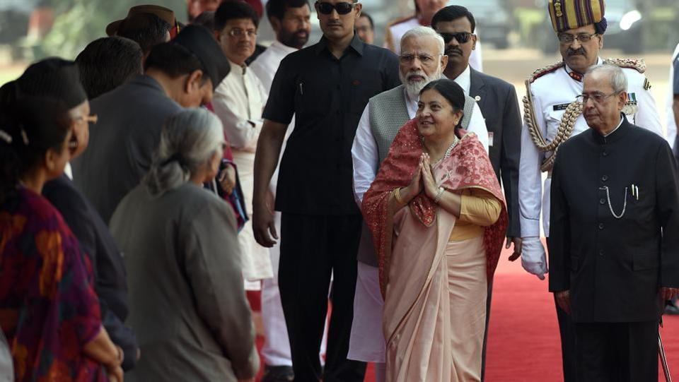 Bhandari was scheduled to visit India in May last year, but the trip was cancelled after the then cabinet did not endorse the visit, citing lack of preparations on part of the government. (Sonu Mehta/HT PHOTO)