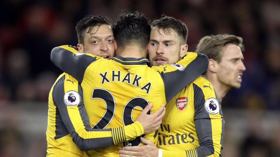 Mesut Ozil and Alexis Sanchez helped Arsenal F.C. end their four-match losing streak away from home with a 2-1 win over Middlesborough.