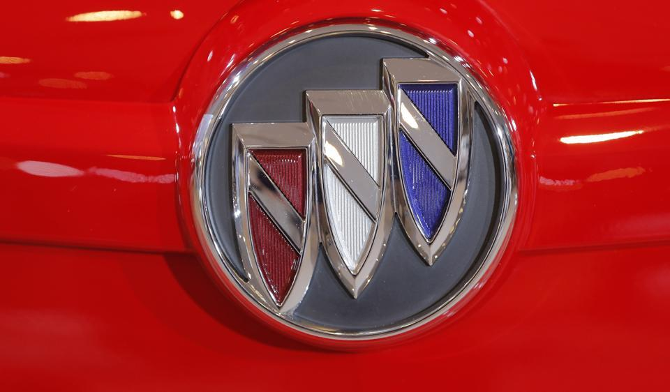 A Buick logo is seen at the 2017 New York International Auto Show in New York City.