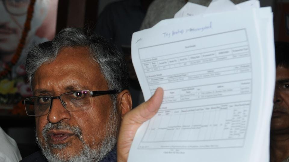 Senior BJP leader Sushil Kumar Modi says he has evidence of Lalu Prasad's family acquiring land through shady deals.
