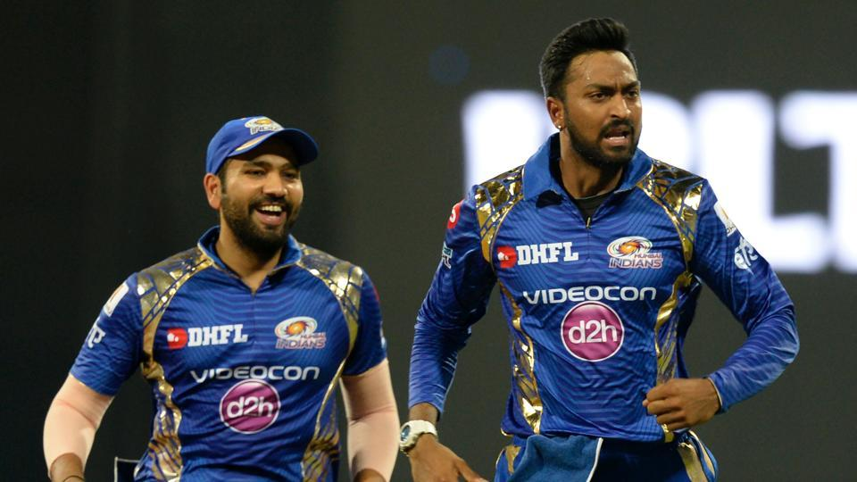 Krunal Pandya (R) has turned out to be a consistent performer for Rohit Sharma-led Mumbai Indians in the Indian Premier League (IPL) 2017.