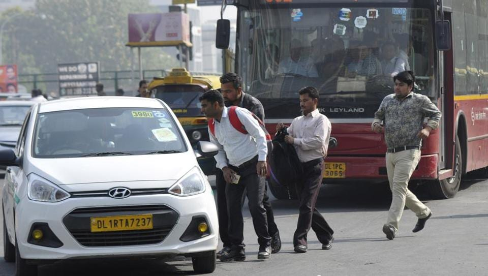 Taxi drivers in Noida and Greater Noida also joined the strike, creating problems for regular cab users.