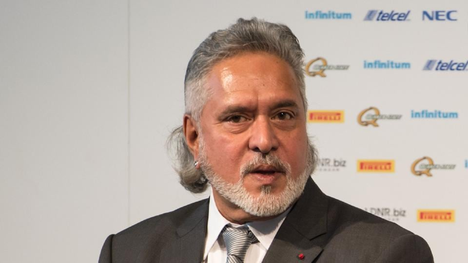 Sahara Force India's owner Vijay Mallya attending the launch of the Sahara Force India Formula One car for the 2017 season in central England on February 22.