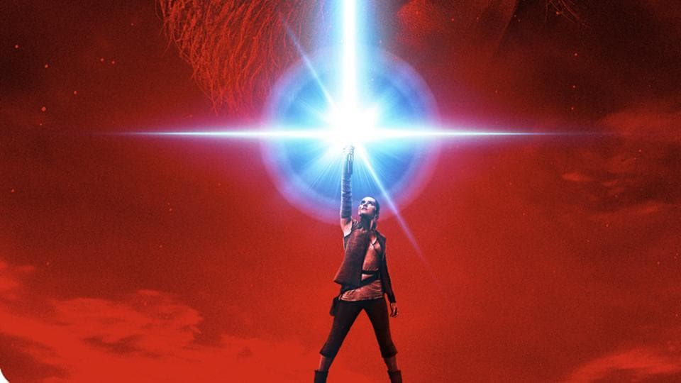 This image released by LucasFilm shows a promotional poster for the upcoming Star Wars: The Last Jedi, film to be released in December.