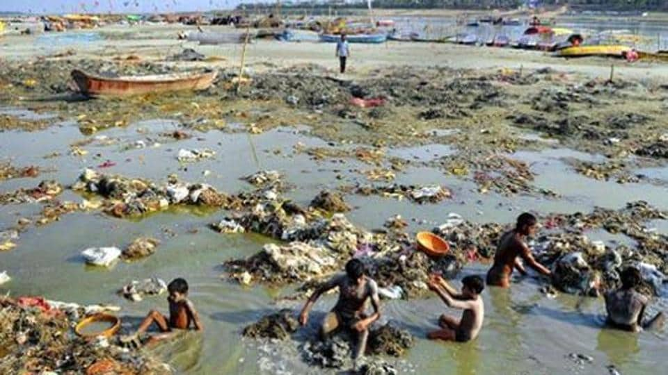 The river Ganga is among the most polluted rivers in India.