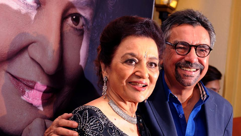 Indian veteran actor, director and producer Asha Parekh attends the launch of her autobiography The Hit Girl written with Khalid Mohammed.