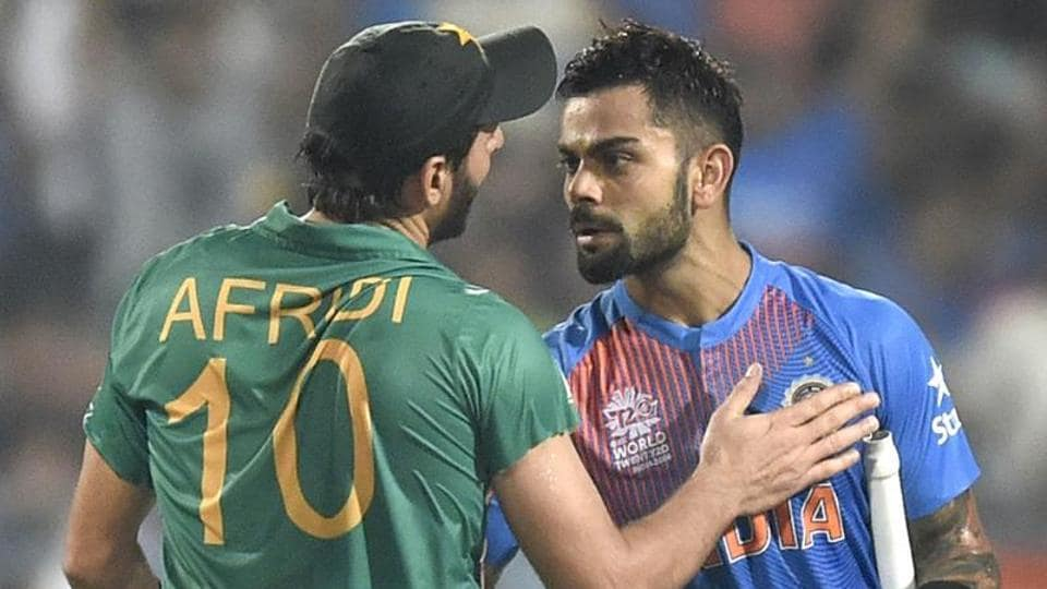 Shahid Afridi retired from international cricket and he was presented a Virat Kohli jersey which had the signatures of all Indian players.