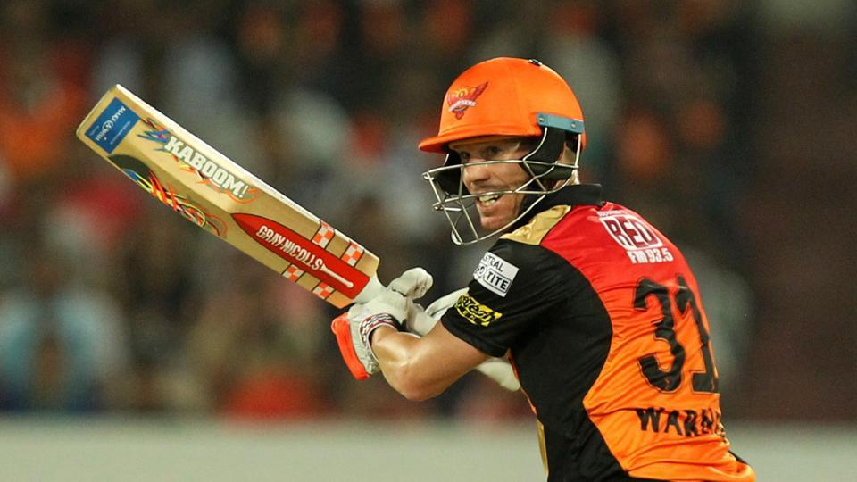 David Warner played a captain's knock of 70* for Sunrisers Hyderabad against Kings XI Punjab in the 2017 Indian Premier League match held at the Rajiv Gandhi International Stadium in Hyderabad on Monday.