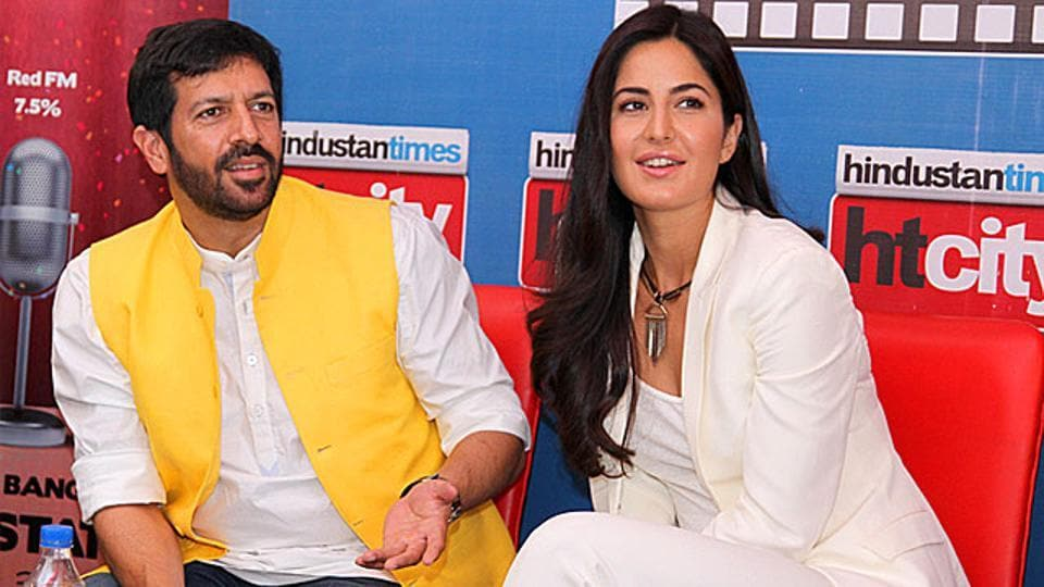 Kabir Khan and Katrina Kaif came to the HTHouse to promote their film Phantom. (Photo: Waseem Gashroo/HT)