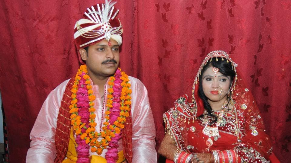 Kavita with husband Nitesh.