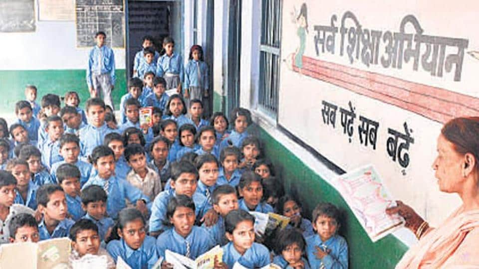 These guest teachers shouted slogans to attract Chouhan's attention to their demand for regularisation of their service.