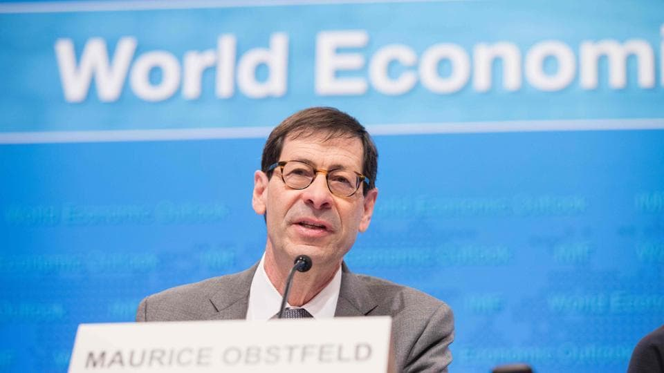 International Monetary Fund Economic Counsellor and Director of the Research Department Maurice Obstfeld as he answers a question during a joint press conference on the World Economic Outlook at the IMF Headquarters April 18 in Washington, DC.