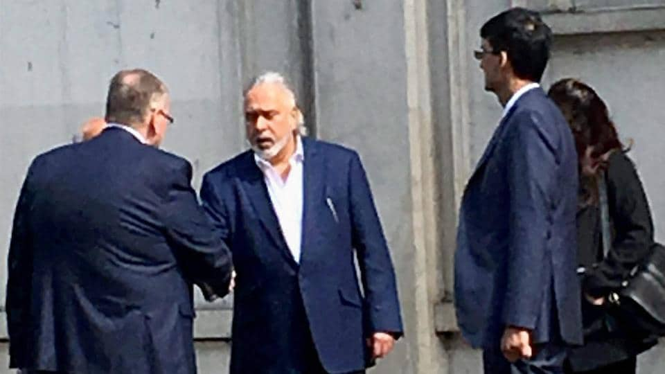 Industrialist Vijay Mallya leaves Westminster magistrates court in London after getting bail on Tuesday. He was arrested earlier in the day by Scotland Yard on an extradition warrant.