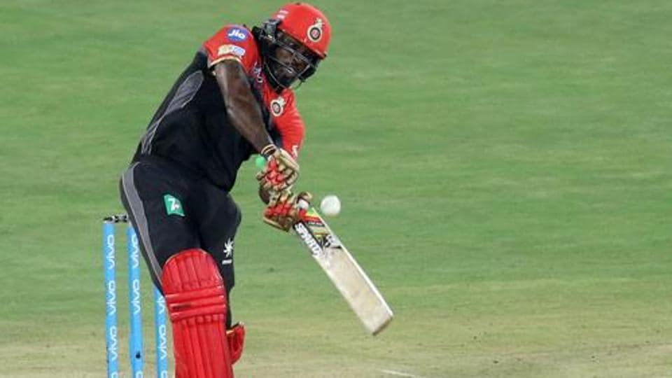 Chris Gayle, playing for Royal Challengers Bangalore, became the first to score 10,000 T20 runs.