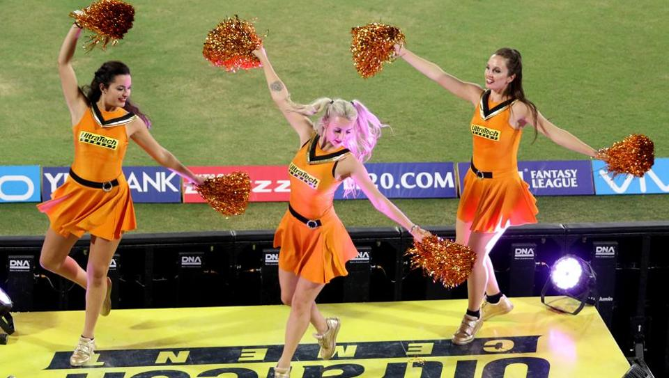 Sunrisers Hyderabad cheerleaders had plenty to cheer for large swathes of the match against Kings XI Punjab. (BCCI)