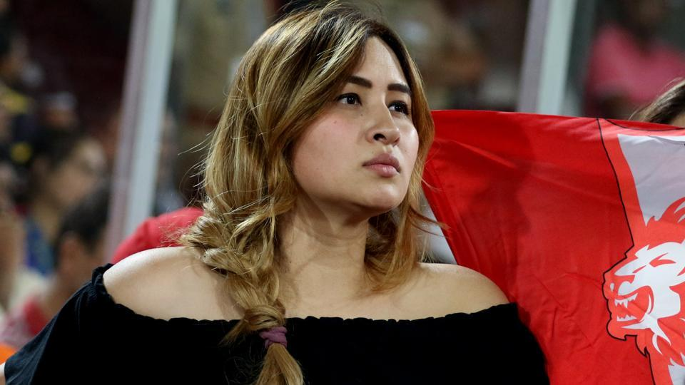 India badminton player Jwala Gutta was in attendance at the 2017 Indian Premier League match between Sunrisers Hyderabad and Kings XI Punjab at the Rajiv Gandhi International Stadium in Hyderabad on Monday.  (BCCI)