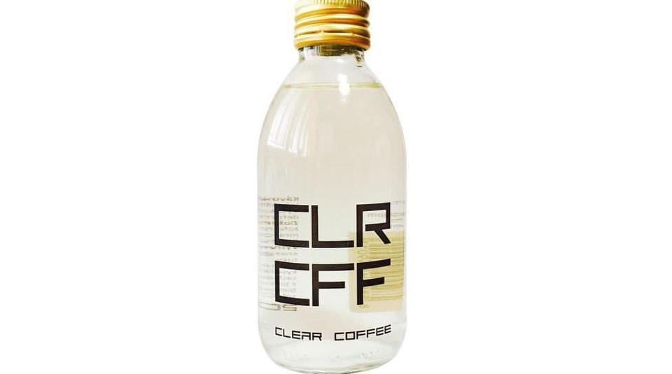 Those who have tried this clear coffee said it tasted like water with an aftertaste of coffee.