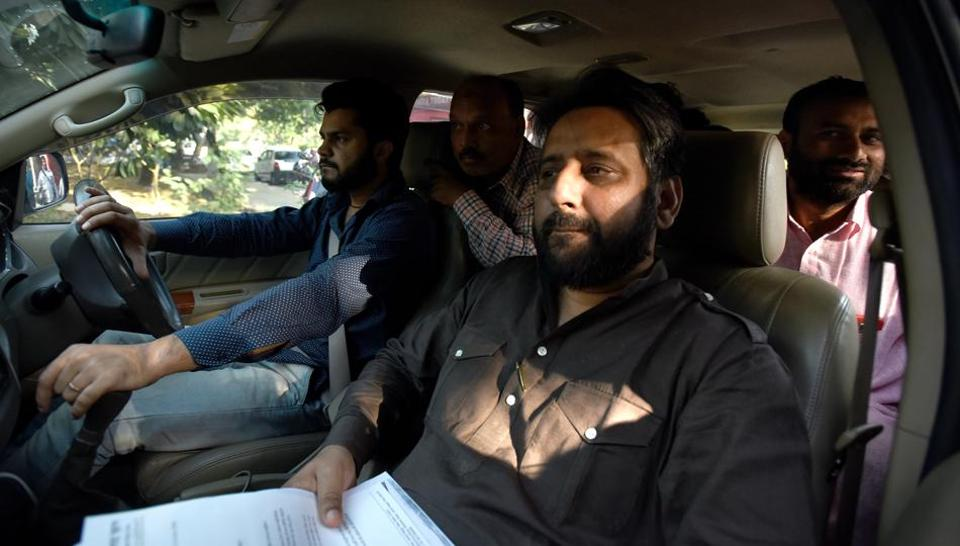 AAP MLA  Amanatullah Khan claimed that the assailants shot at him in police presence, but he had a miraculous escape.
