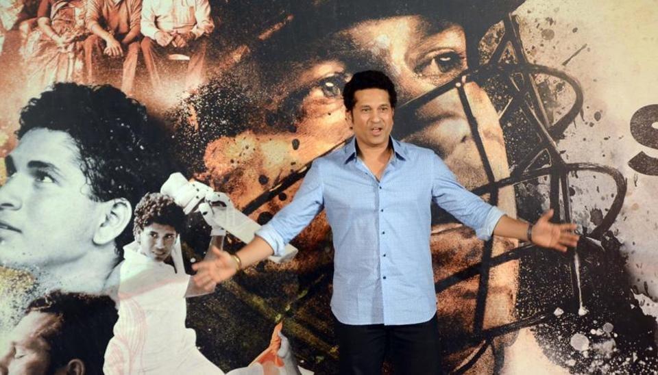 Sachin Tendulkar at the trailer launch of Sachin A Billion Dream.