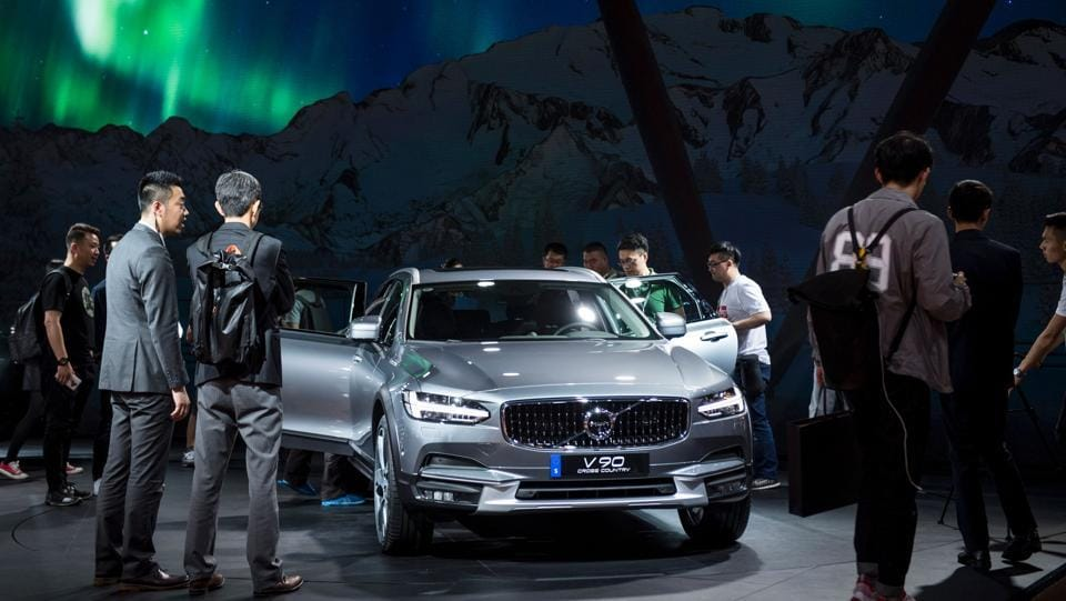 At Shanghai Auto Show, Volvo announces plans to export electric cars