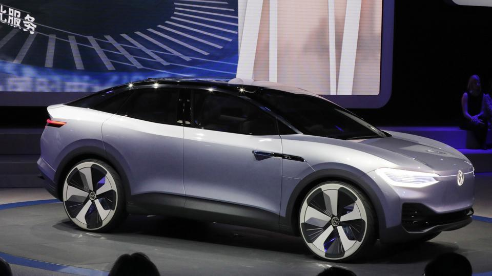 Volkswagen's electric crossover concept I.D. Cross during the Auto Shanghai 2017. After the emissions scandal, the German automaker has reworked its product strategy and in back-to-back auto shows has shown its allegiance towards making clean cars. (AP)