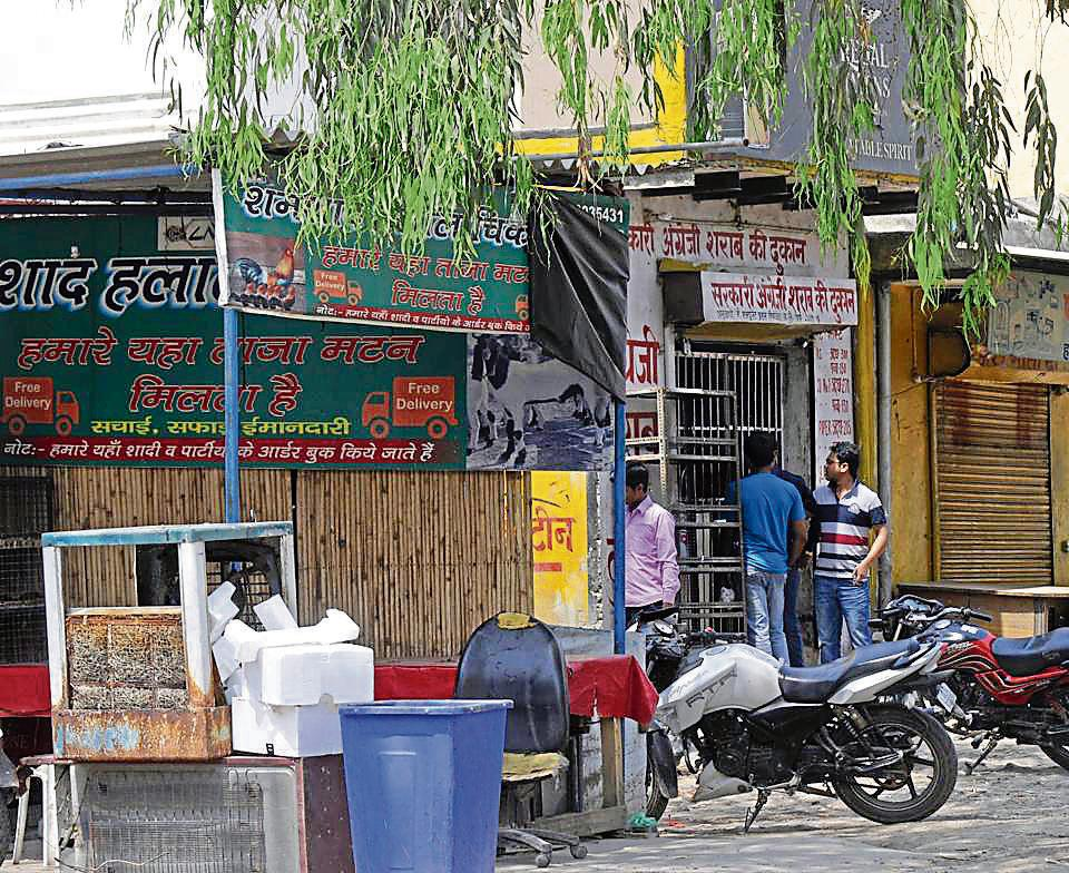 Residents are hassled due to encroachments by shopkeepers from nearby Gheja village.