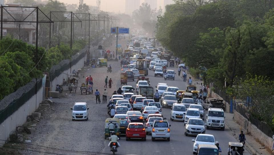 The Municipal Corporation of Gurugram is expanding the 2.2km road at a cost of Rs5.9 crore. Work on the project started in March last year.