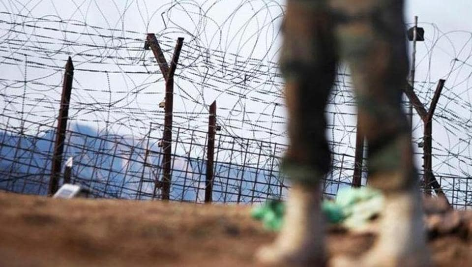 An Indian army soldier patrols near the Line of Control in Jammu and Kashmir Poonch district.