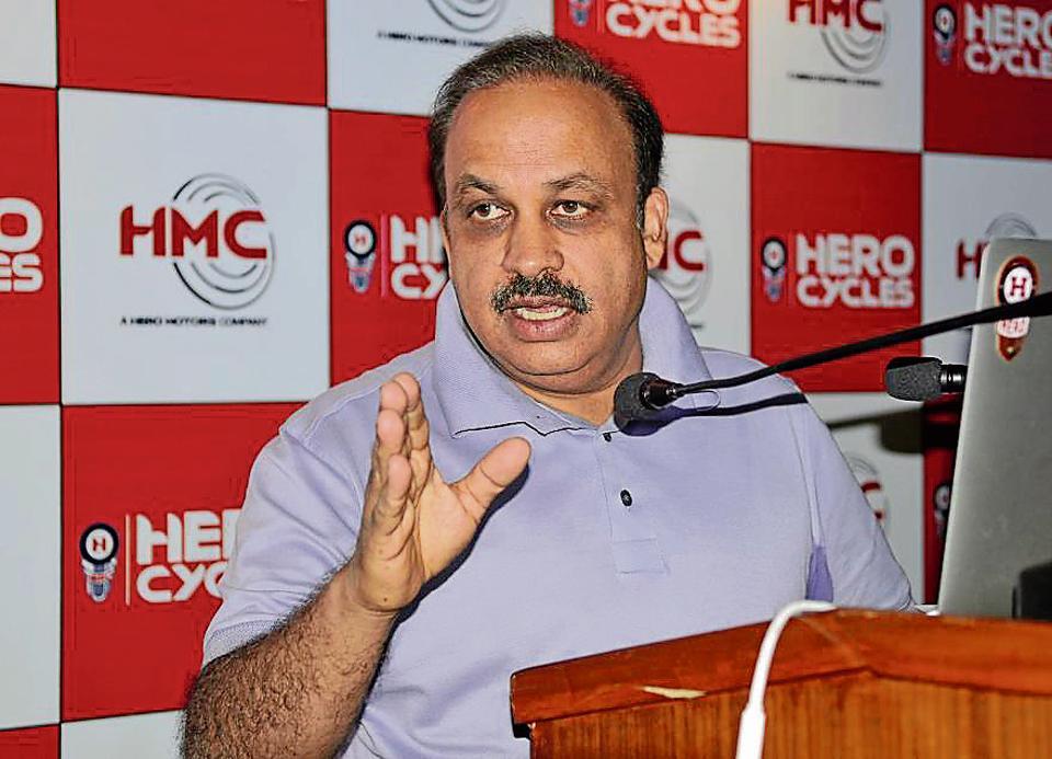 Pankaj Munjal,  chairman cum managing director, Hero Cycles.