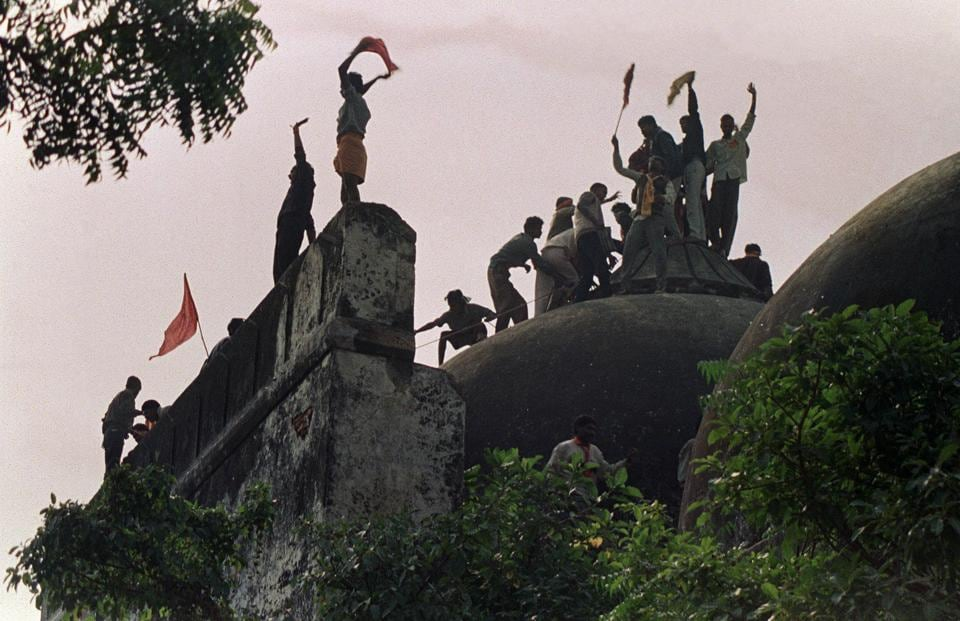 A mob of right-wing Hindu activists brought down the Babri mosque  in Ayodhya on December 6, 1992, sparking communal riots that left more than 3,000 people dead.