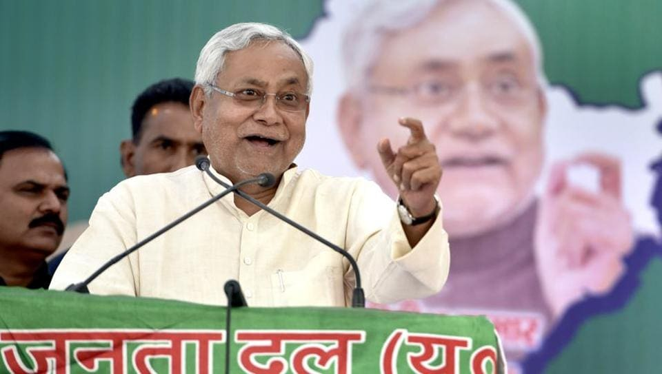 JDU released a 15-minute long video message on Monday where Bihar CM is seen appealing to Delhi voters to support his party.