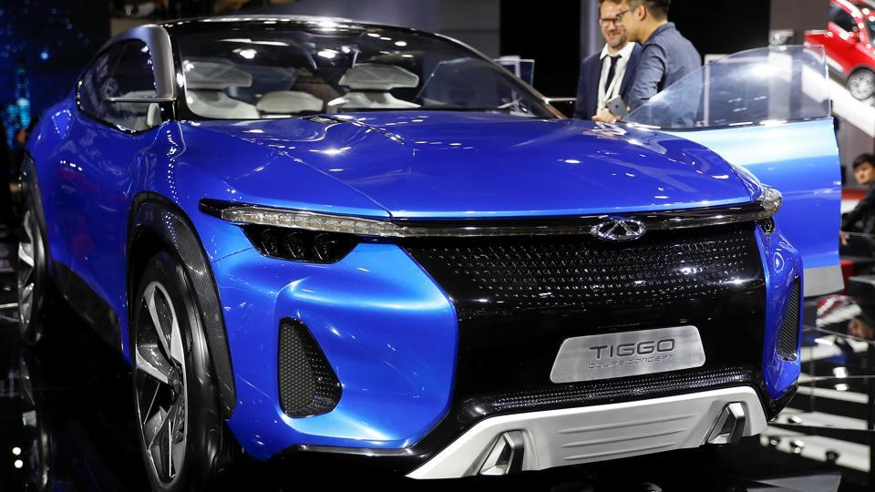 A Tiggo Coupe Concept by Chinese automaker Chery Automobile Co, Ltd., at the Shanghai Auto Show on Wednesday. (REUTERS)