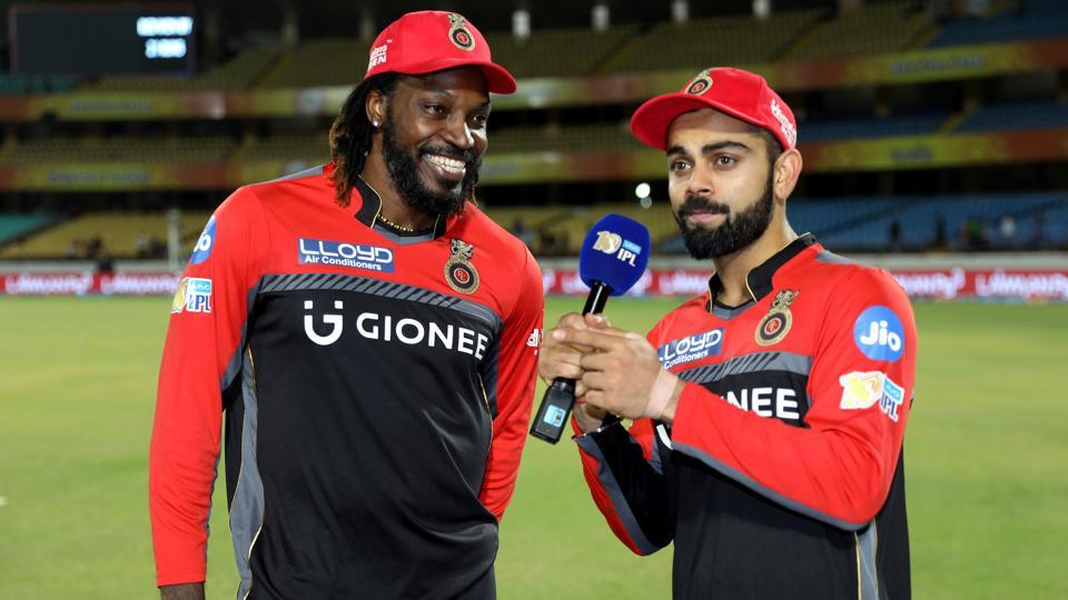 Virat Kohli and Chris Gayle's 122-run partnership guided Royal Challengers Bangalore to a 21-run win over Gujarat Lions in a 2017 Indian Premier League clash at Rajkot.