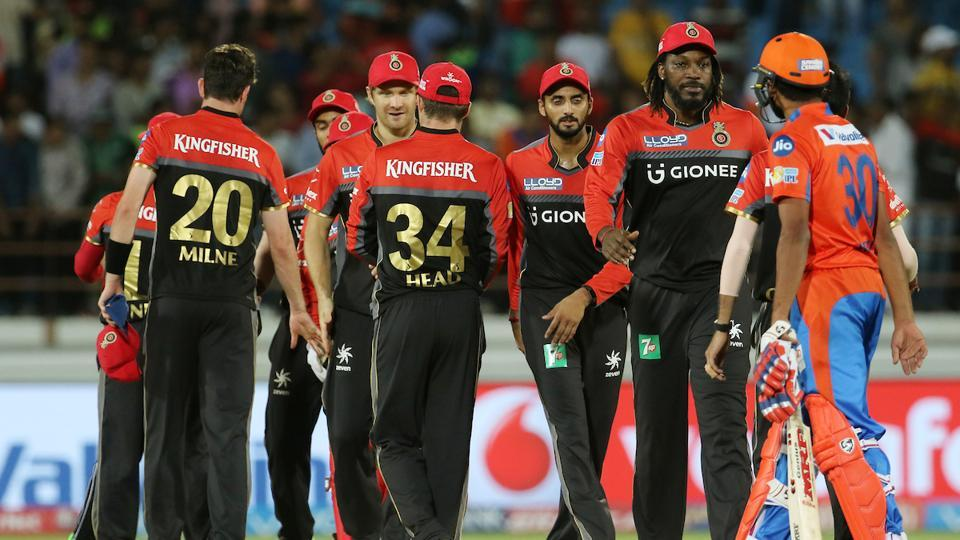 Royal Challengers Bangalore defeated Gujarat Lions by 21 runs to notch their second win of the 2017 Indian Premier League (IPL) season at the Saurashtra Cricket Association (SCA) Stadium in Rajkot on Tuesday. (BCCI)