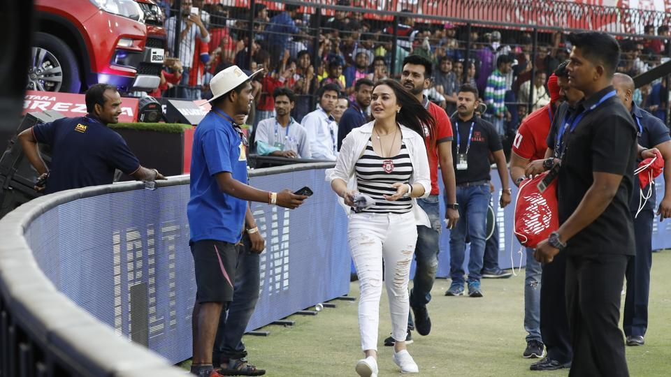 And sometimes one is left to wonder whether the crowd enjoys a lap or honour by Kings XI Punjab players or the franchise's co-owner Preity Zinta. They seem to cheer loudly each time the Bollywood actress steps out in front of them, as loud as they cheer for the players.  (BCCI/Sportzpics)