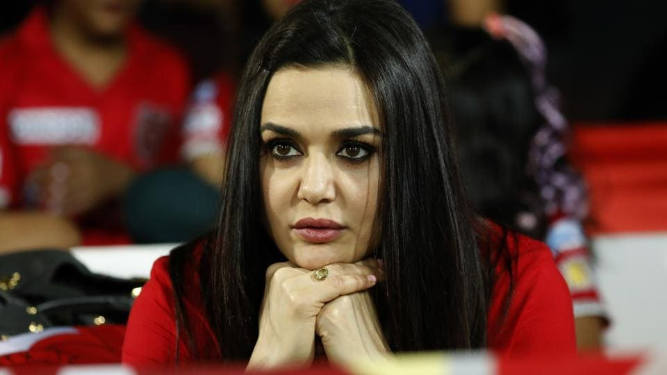It is easy to judge the way the game is heading by looking at Preity Zinta, co-owner of Kings XI Punjab. Her expressions and emotions changes with the fortunes of her team, from gense moments to bursts of celebration.  (BCCI/Sportzpics)