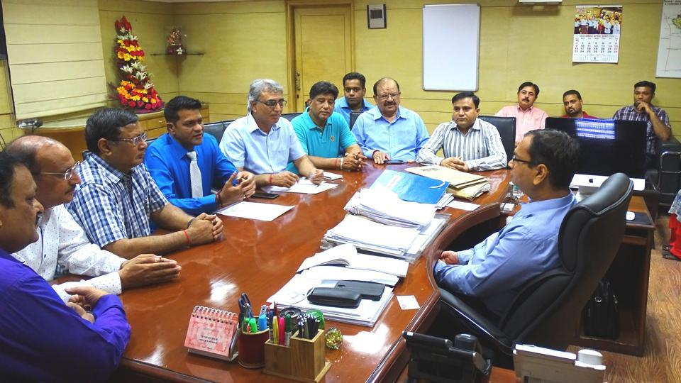 The NEA delegation met Noida authority CEO Amit Mohan Prasad on April 19.