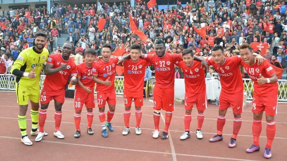 Aizawl FC are currently in race with Mohun Bagan for the I-League title.