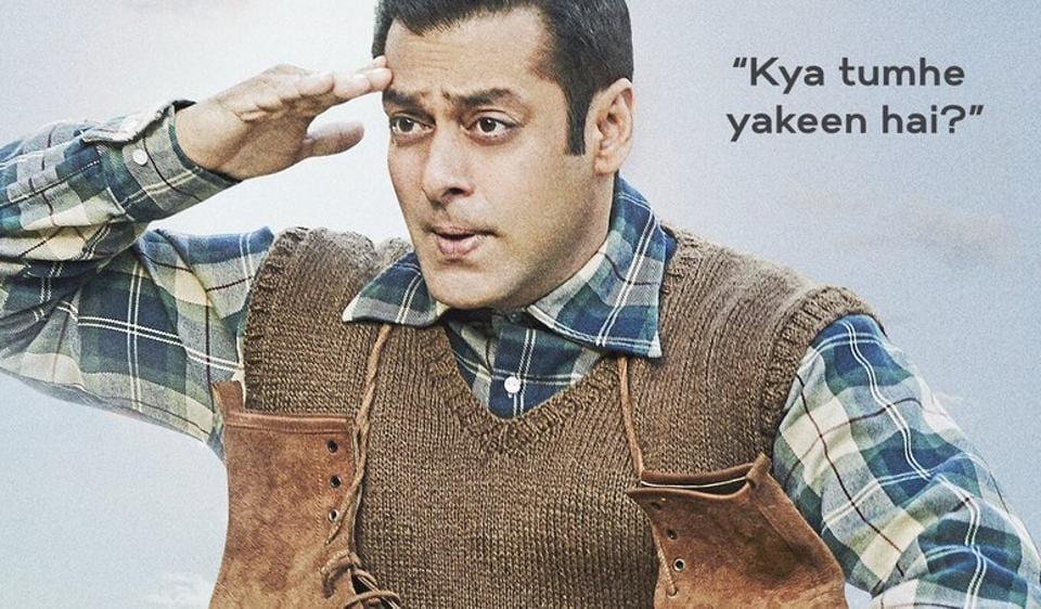 Salman Khan on the new poster of Tubelight.