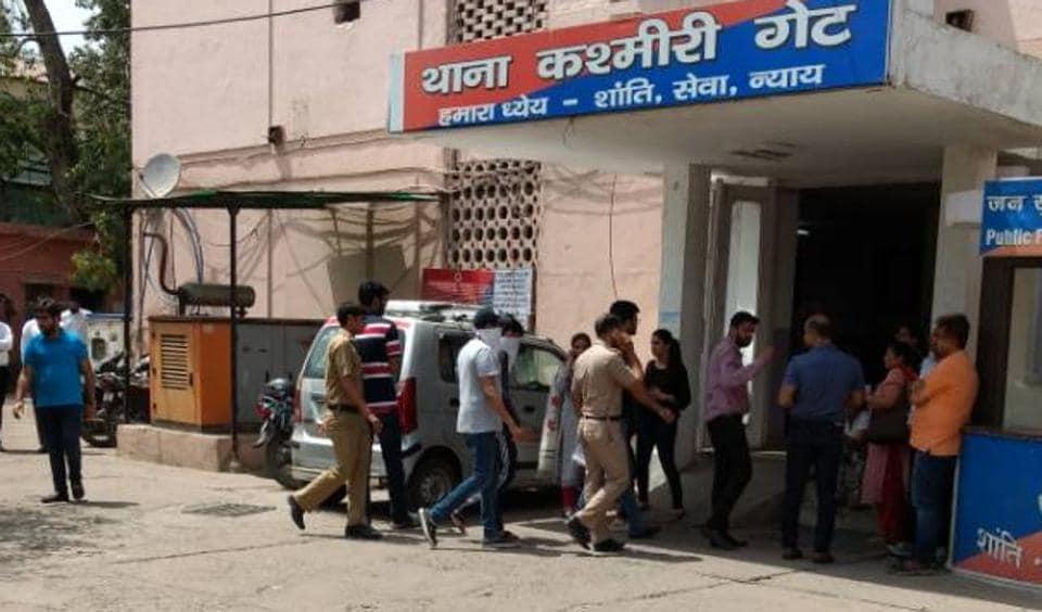 DPS Mathura Road student Samarth Chugh being taken to Kashmere Gate police station.