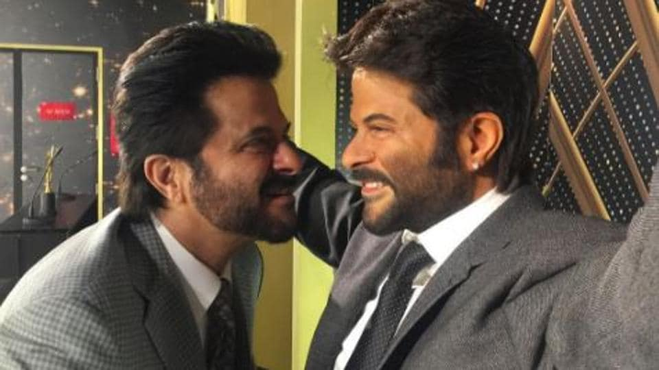 Actor Anil Kapoor's wax statue was installed at Madame Tussauds Singapore on Thursday.
