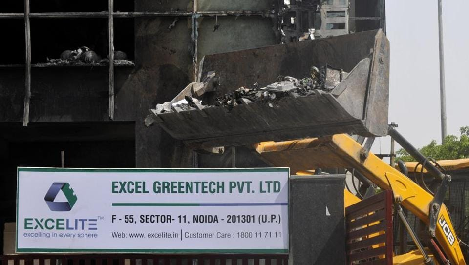 The police also lodged an FIR against the building owner and Excel Greentech for negligence, as they were running operations without following fire safety rules and other norms.